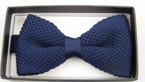 Effeti blue bow tie top view