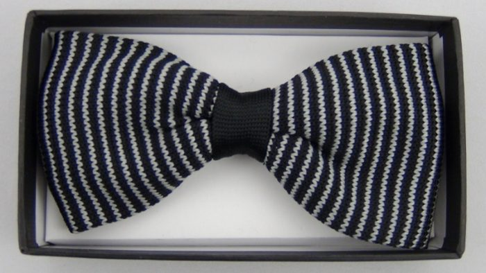 Effeti white black bow tie top view