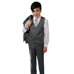Giovanni Testi kids 5 piece suits gray suit set