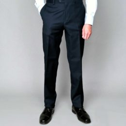 Mantoni black no pleat trouser