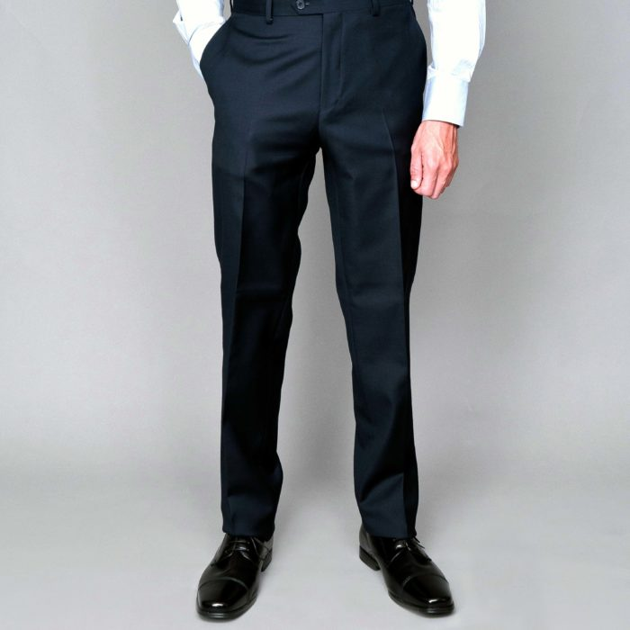 Mantoni black no pleat trouser