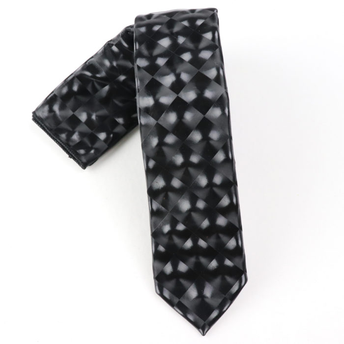 Giovanni Testi Black translucent tie
