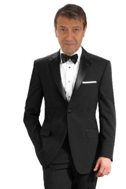 black Modern fit one button tuxedo