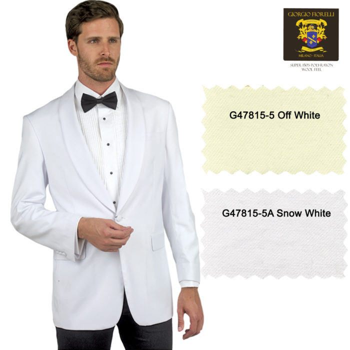 White formal dinning jacket blazer