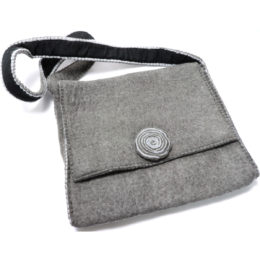 grey Himalaya cashmere hand bag for iPad