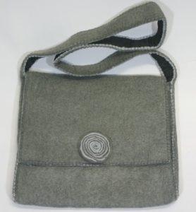 grey Himalaya cashmere hand bag for iPad