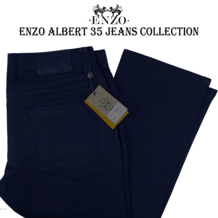 Enzo Navy Jeans 100% cotton