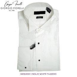 Giorgio Fiorelli White Wing Tip Tuxedo Shirt