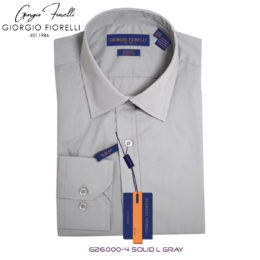 Giorgio Fiorelli Gray Barrel-cuffed Dress Shirt