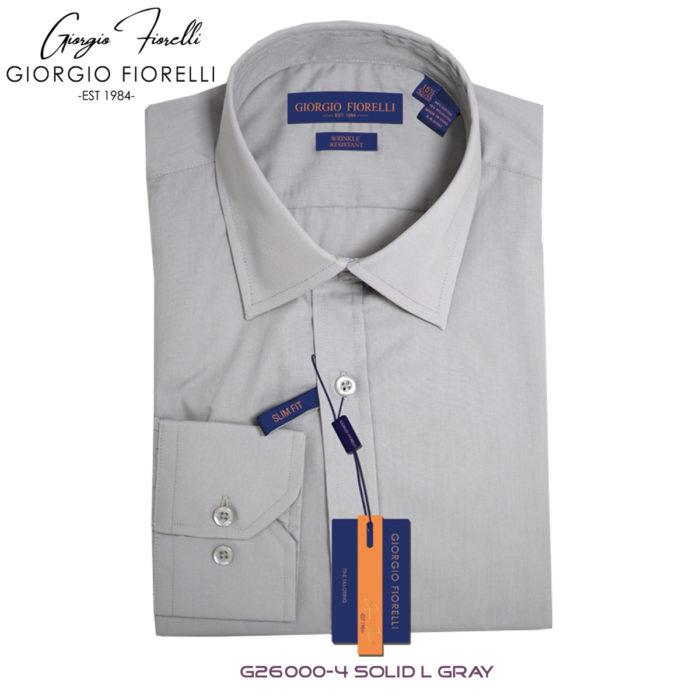 Giorgio Fiorelli Gray Barrel-cuffed Dress Shirt