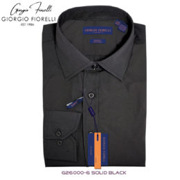 Giorgio Fiorelli Black Barrel-cuffed Dress Shirt
