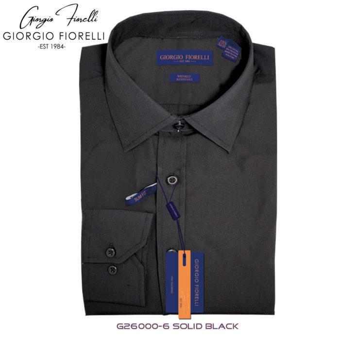 Giorgio Fiorelli Black Barrel-cuffed Dress Shirt