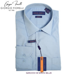 Giorgio Fiorelli Blue Barrel-cuffed Dress Shirt
