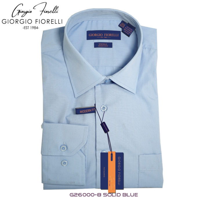 Giorgio Fiorelli Blue Barrel-cuffed Dress Shirt