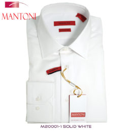 Mantoni White Barrel-cuffed Dress Shirt