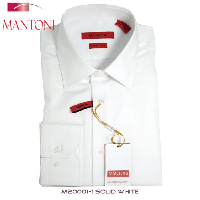 Mantoni White Barrel-cuffed Dress Shirt