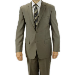 Mantoni taupe wool suit