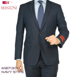 Mantoni strip suits Navy