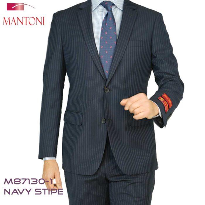 Mantoni strip suits Navy