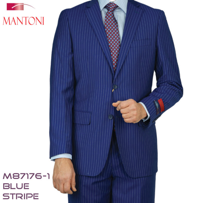 Mantoni strip suits Blue