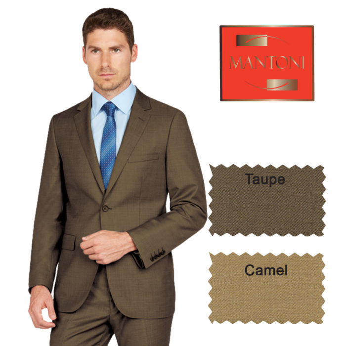 Mantoni business suit Camel