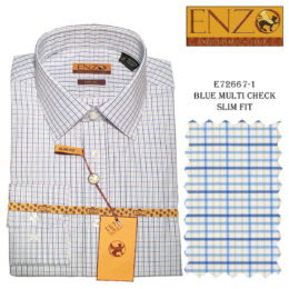 Enzo Men Dress Shirt 100% Cotton
