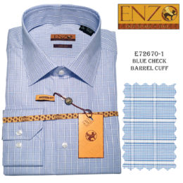 Enzo Men Dress Shirt 100% Cotton