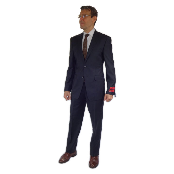 charcoal modern or slim fit wool suits at Moda Italy