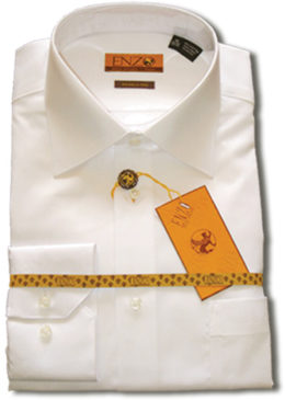 Enzo dress shirts white slim fit
