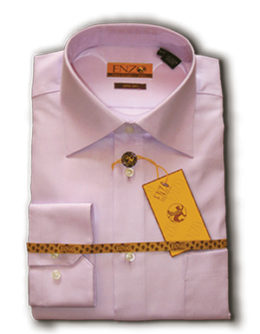 Enzo pink wrinkle free dress shirts