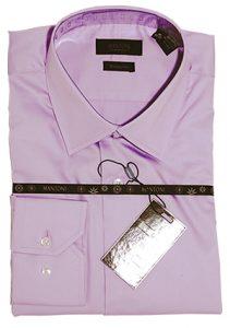 Mantoni wrinkle free dress shirts modern cut lavender