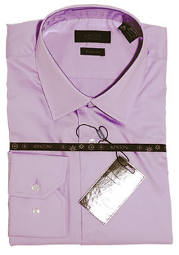 Mantoni wrinkle free dress shirts modern cut lavender