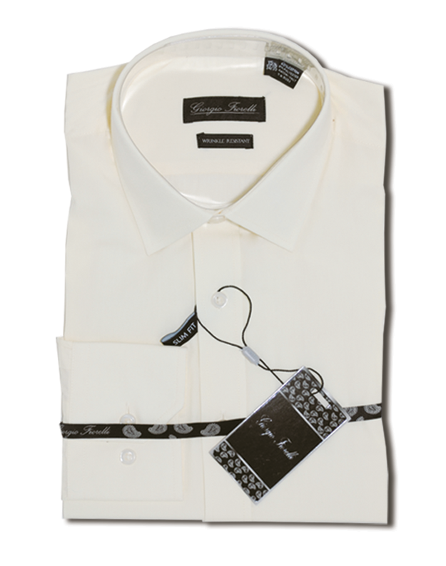 Georgio Fiorelli cotton wrinkle free dress shirts