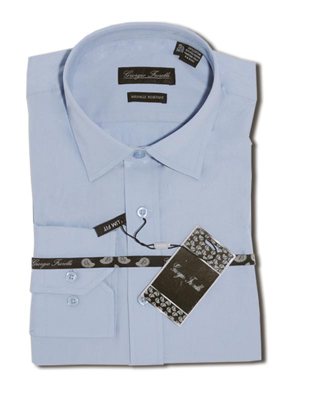 Giorgio Fiorelli blue slim fit dress Shirt