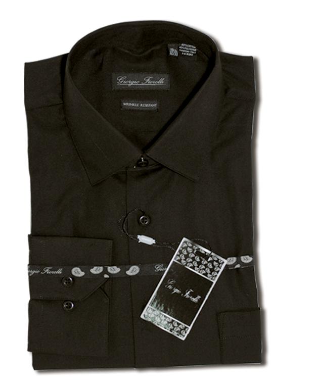 Giorgio Fiorelli black wrinkle free dress Shirt