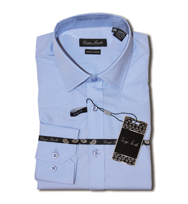 Giorgio Fiorelli blue wrinkle free dress Shirt