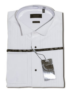 Giorgio Fiorelli white Lay-down wrinkle free tuxedo Shirt