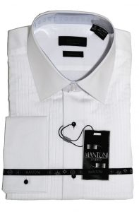Mantoni cotton wrinkle free dress shirts white