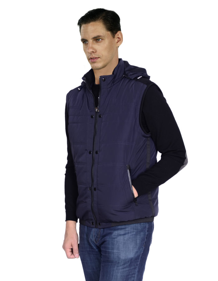 outerwear mantoni navy snow jacket