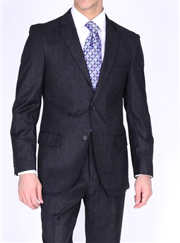 Bertolini Gray wool & silk suit