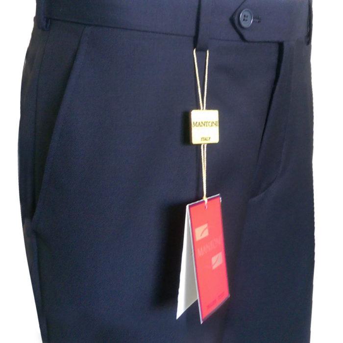 Mantoni slacks business pants flat front Moda Italy wool