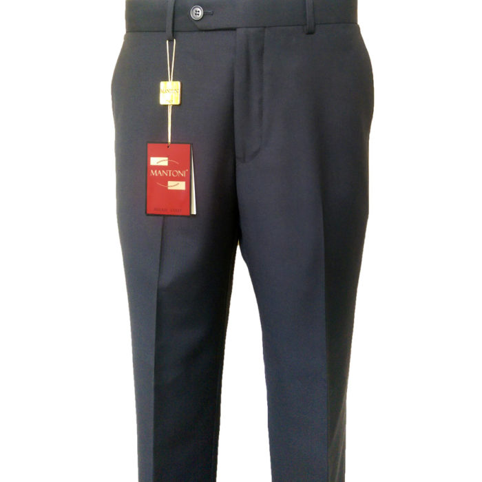 Mantoni flat front wool slacks