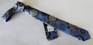 Blue Tan Black medium tie