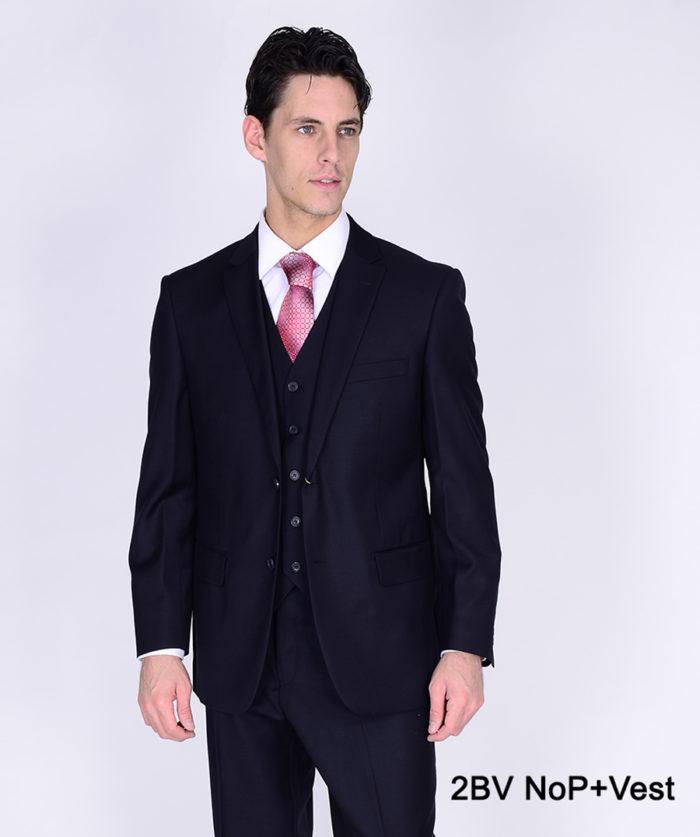 Bertolini double button suit and vest