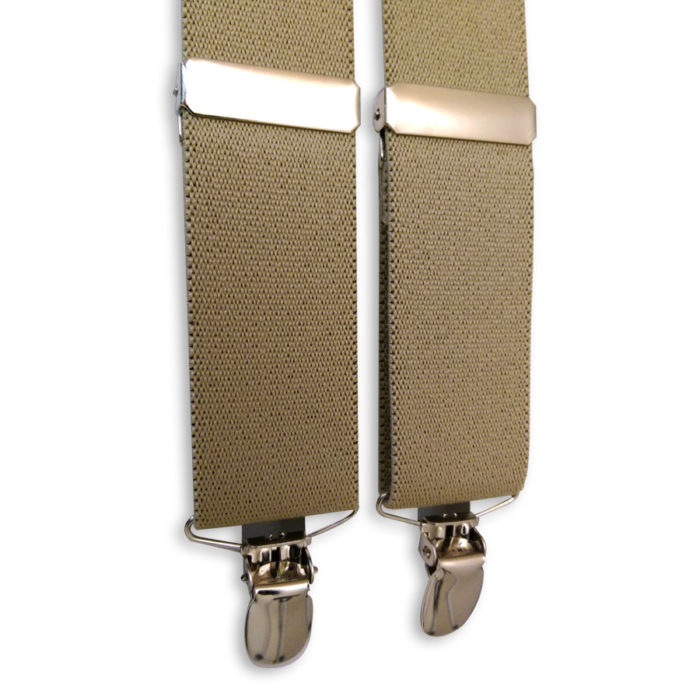 suspenders tan clip-on