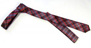 Slim Tie black and red