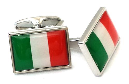 Moda Italian flag cuff links
