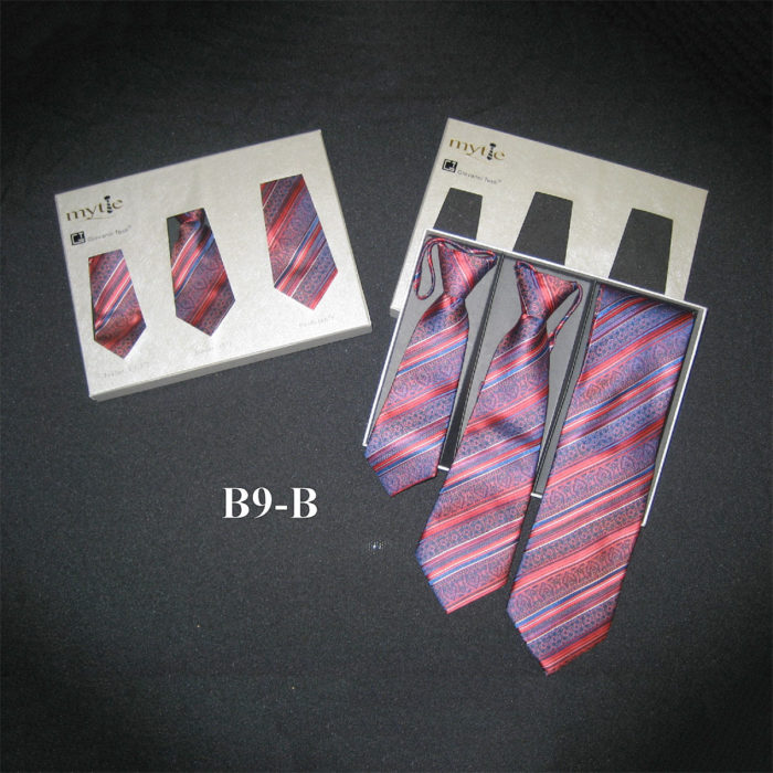 Father and son formal ties with neck wraps
