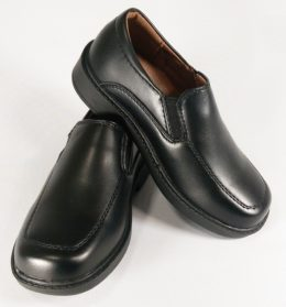 Kids slip on dress shoes black