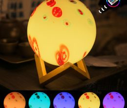 led mood light decorative gift with remote